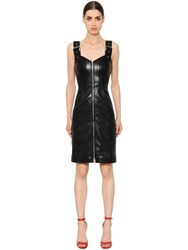 Givenchy Zip Up Faux Leather Dress