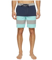 Vans Era Panel Boardshorts 19 Dress Blues Aqua Sky Men's Swimwear