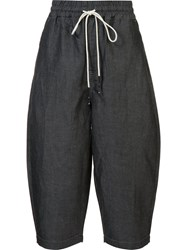 Mostly Heard Rarely Seen Loose Cropped Pants Grey