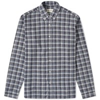 Oliver Spencer Button Down Brook Box Check Shirt Grey