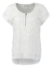 Cream Lonnie Basic Tshirt White
