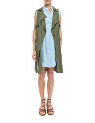 Walter Baker Terry Trench Vest Olive