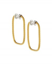 Alor Classique Square Hoop Earrings White