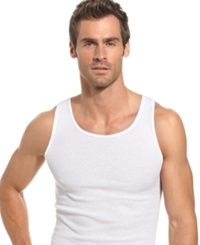 Alfani Men's Underwear Big And Tall Tank 4 Pack