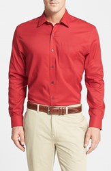 Men's Big And Tall Cutter And Buck 'Epic Easy Care' Classic Fit Wrinkle Free Sport Shirt Cardinal Red