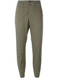 Hope Cropped Tapered Trousers Green