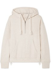 Vince Cotton Jersey Hooded Top Beige