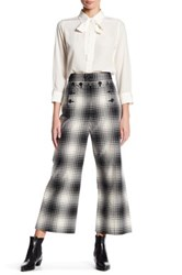 Marc Jacobs High Wasted Plaid Pant Black