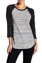 Alternative Apparel Eco Jersey Raglan Baseball Tee Gray