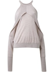 Dion Lee Sleeve Release Sweater Grey