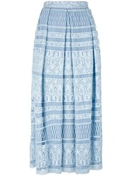 House Of Holland Heart Lace Skirt Blue
