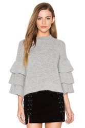 Endless Rose Exaggerated Sleeve Sweater Gray