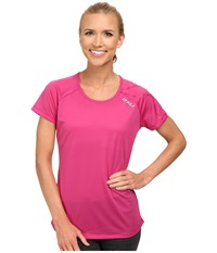2Xu Ghxst Short Sleeve Top Magenta Magenta Women's Short Sleeve Pullover Red