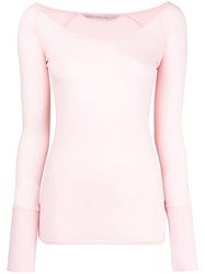 Humanoid Round Neck Longsleeve Top Pink And Purple