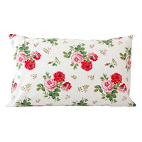 Cath Kidston Antique Rose Bouquet Pillowcase White