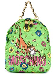 Moschino Crowned Monkey Backpack Green