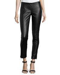 Catherine Catherine Malandrino Faux Leather Quilted Pants Black