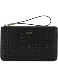 Tod's Studded Clutch Bag Black