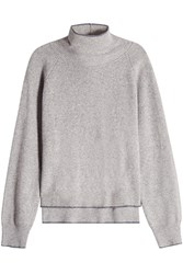 Lala Berlin Layered Turtleneck Pullover With Wool Grey