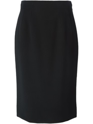 Dolce And Gabbana Classic Pencil Skirt Black