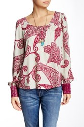 Voom By Joy Han Denise Long Sleeve Blouse Multi