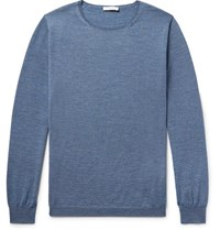 Boglioli Melange Wool Sweater Blue