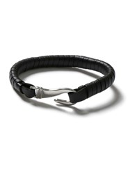 Topman Black Faux Leather Clasp Wristband