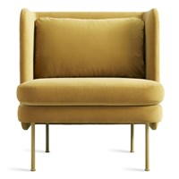 Blu Dot Bloke Lounge Chair Ochre Velvet
