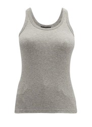 Atm Anthony Thomas Melillo Wide Rib Tank Top Grey