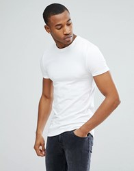 Asos Muscle Fit T Shirt With Crew Neck In White
