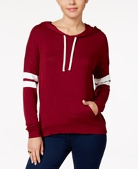 Hippie Rose Juniors' Striped Sleeve Hoodie Dixie Combo