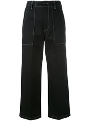 Golden Goose Deluxe Brand Patch Trousers Women Cotton M Black