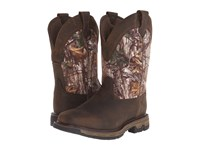 Ariat Conquest Pull On H2o Insulated 400G Ash Brown Real Tree Xtra Men's Work Boots