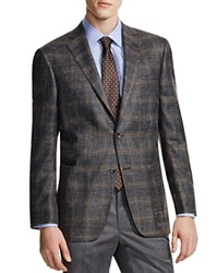 Hart Schaffner Marx Hart Shaffner Marx Platinum Label Subtle Plaid Classic Fit Sport Coat 100 Bloomingdale's Exclusive Char Brown Plaid