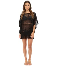Trina Turk French Lace Cover Up Black Women's Swimwear