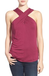 Women's Ella Moss 'Bella' Cross Front Sleeveless Top Wine
