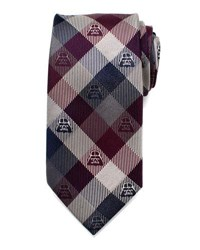 Cufflinks Inc. Star Wars Darth Vader Plaid Silk Tie Plum