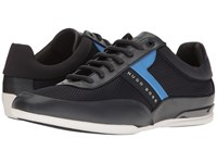 Hugo Boss Space Lace Up Sneaker By Green Dark Blue Men's Shoes