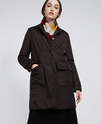 Aspesi Nylon And Thermore Coat Albanella Brown