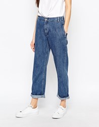 Bethnals Smith Relaxed Boyfriend Jeans With Rolled Hem Bl1 Blue 1
