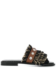 Dorothee Schumacher Tiered Fringed Flat Sandals 60