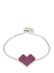 Apm Monaco Silver Pixel Red Heart Bracelet Array 0X57e0838