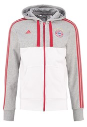 Adidas Performance Tracksuit Top Medium Grey Heather White True Red