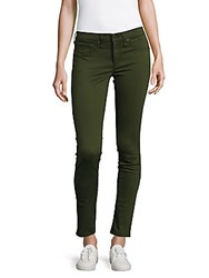 Rag And Bone Solid Cotton Blend Jeans Green