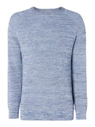 Criminal Men's Cooper Space Dyed Crew Jumper Blue