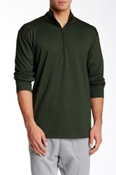 Victorinox Half Zip Olive Sweater Green