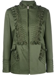 Ermanno Scervino Embroidery Detail Jacket Green