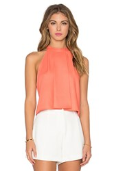 Bishop Young High Neck Crop Tank Orange