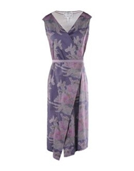 Master And Muse X Daniel Silverstein Knee Length Dresses Purple