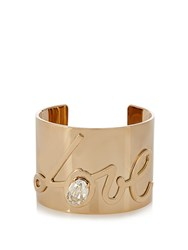 Lanvin Crystal Embellished Love Cuff